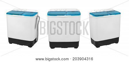 activator washing machine on a white background three image positions