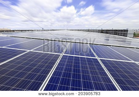 Solar PV Rooftop System with Moving Cloud poster