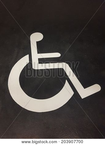 Disabled parking places in a garage nearby