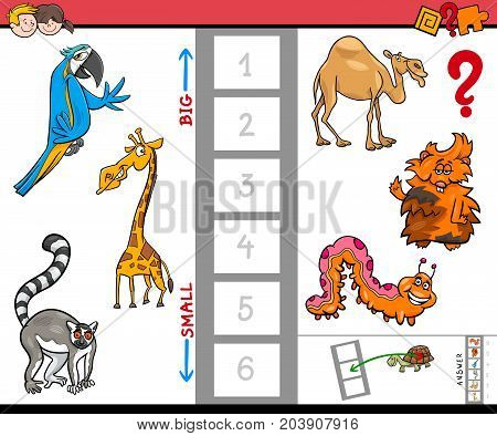 Biggest And Smallest Animal Cartoon Activity