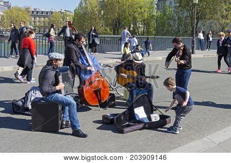 Street Musicians. Paris, France.