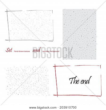hand-drawn doodle hatch seamless pattern and variants use. Vector illustration