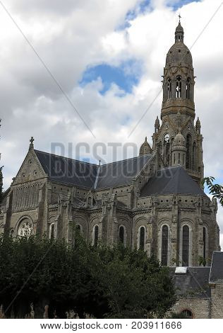 The Basilica of St. Louis de Montfort at Saint-Laurent-sur-Sèvre in the Vendée department in the Pays de la Loire region in France