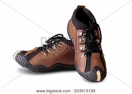 Casual Leather Shoes Isolated on White Background