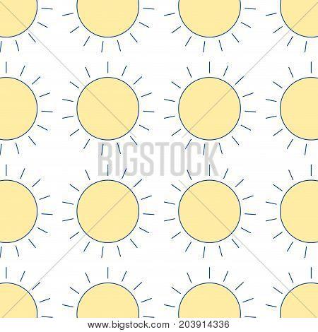 nice sun light ray weather background vector illustration