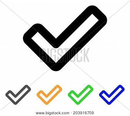 Apply icon. Vector illustration style is a flat linear iconic apply symbol with black, gray, green, blue, yellow color versions. Designed for web and software interfaces.