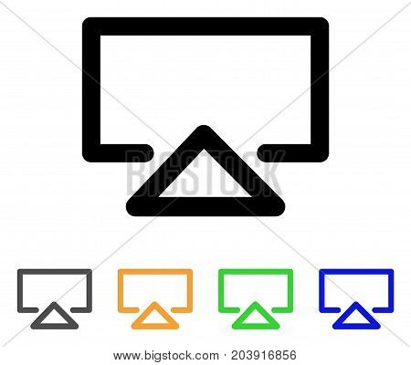 Data Entry icon. Vector illustration style is a flat linear iconic data entry symbol with black, gray, green, blue, yellow color variants. Designed for web and software interfaces.