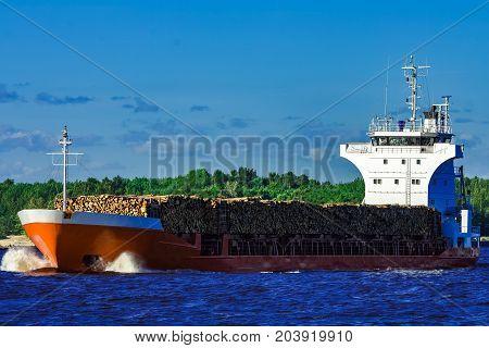 Orange Bulk Carrier