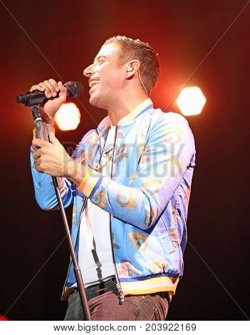 Vicenza, Vi, Italia - September 5, 2017: Live Concert Gabbani Francesco An Italian Singer-songwriter