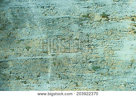 Wall with rough surface. Grunge overlay texture. Paint weathered on green cement background. Neglect decay and ruin concept