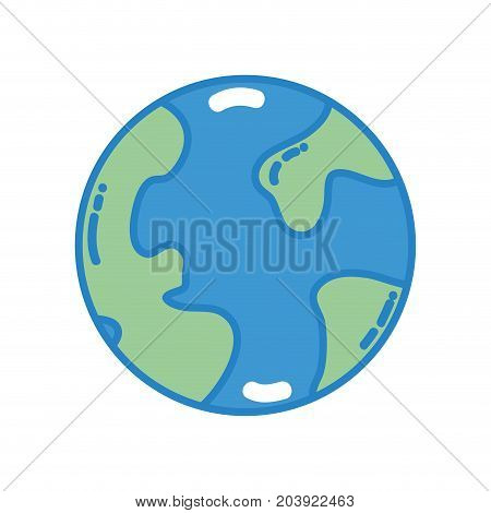 Global earth planet and geography continents vector illustration