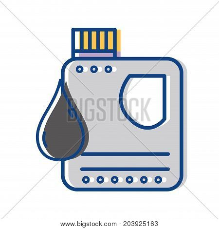 gasoline bottle with drop to car industrial vector illustration
