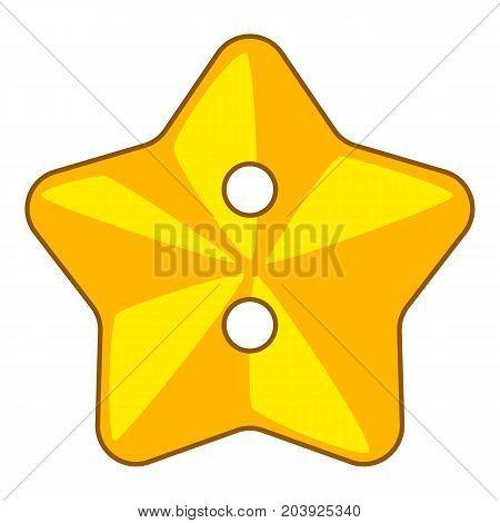 Star cloth button icon. Cartoon illustration of star cloth button vector icon for web
