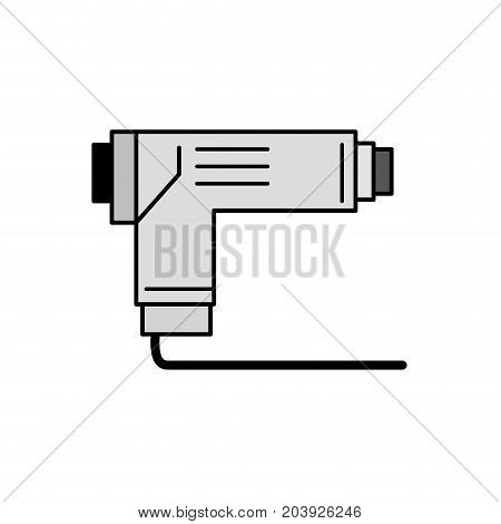 grayscale pistol tool car service repair vector illustration