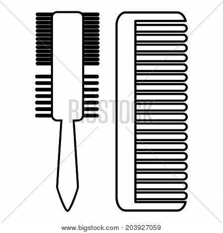 Hair comb icon. Outline illustration of hair comb vector icon for web design isolated on white background