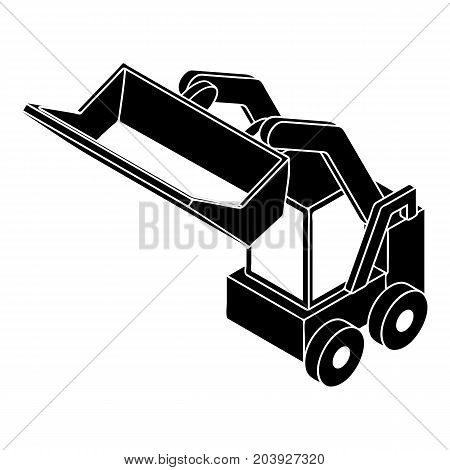 Bobcat machine icon. Simple illustration of bobcat machine vector icon for web design isolated on white background