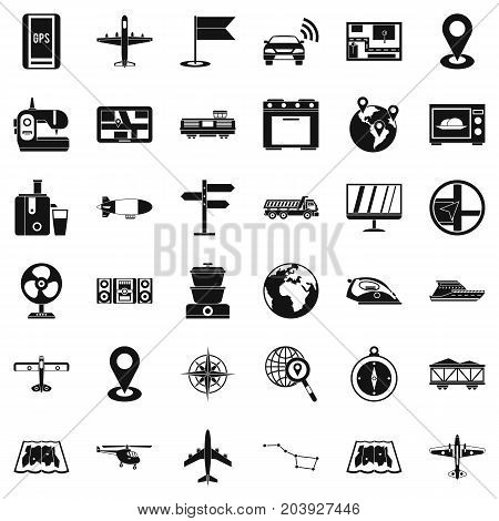 Global icons set. Simple style of 36 global vector icons for web isolated on white background