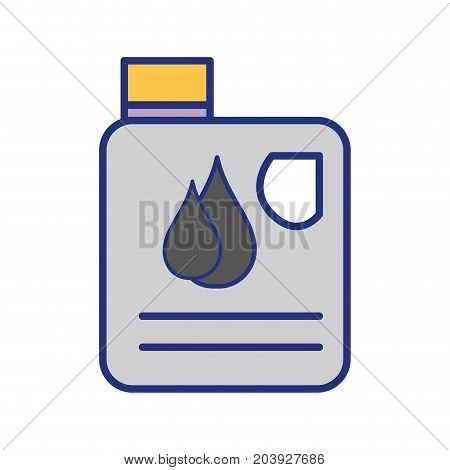 gasoline bottle with drops to car industrial vector illustration