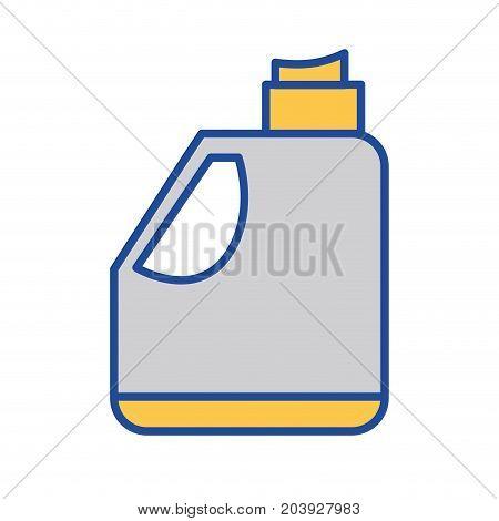 gasoline bottle to car industrial equipment vector illustration