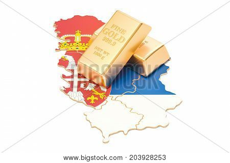 Foreign-exchange reserves of Serbia concept 3D rendering isolated on white background