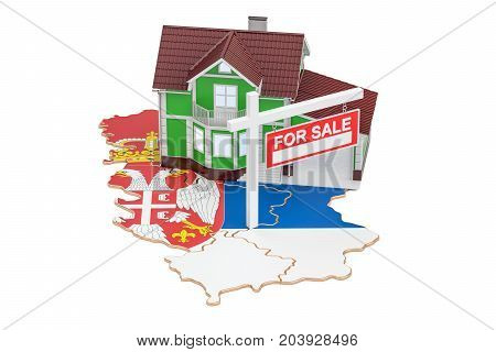 Property for sale and rent in Serbia concept 3D rendering