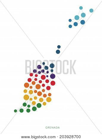 dotted texture Grenada vector rainbow colorful background