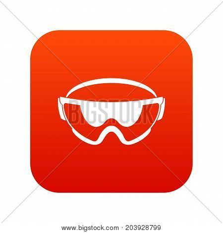 Safety glasses icon digital red for any design isolated on white vector illustration