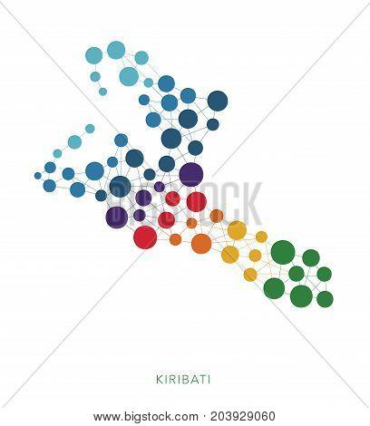 dotted texture Kiribati vector rainbow colorful background