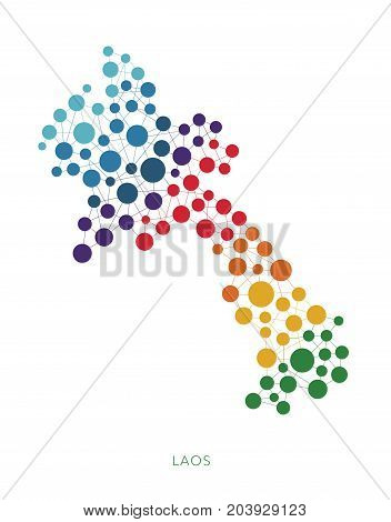 dotted texture Laos vector rainbow colorful background