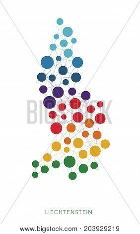 dotted texture Liechtenstein vector rainbow colorful background