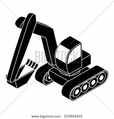Excavator icon. Simple illustration of excavator vector icon for web design isolated on white background