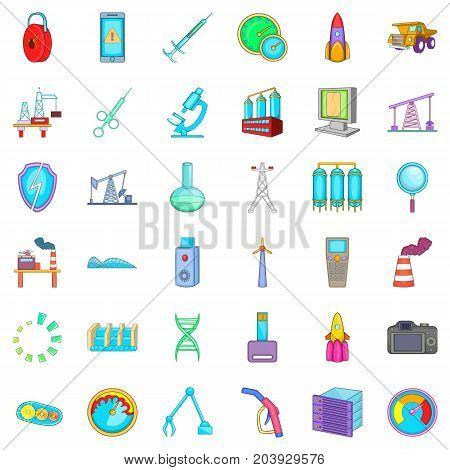 Indicator icons set. Cartoon style of 36 indicator vector icons for web isolated on white background