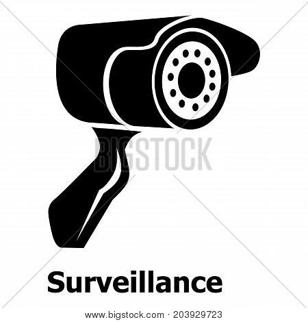 Surveillance icon. Simple illustration of surveillance vector icon for web