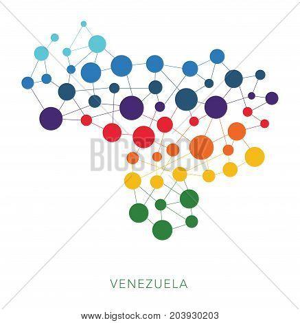 dotted texture Venezuela vector rainbow colorful background