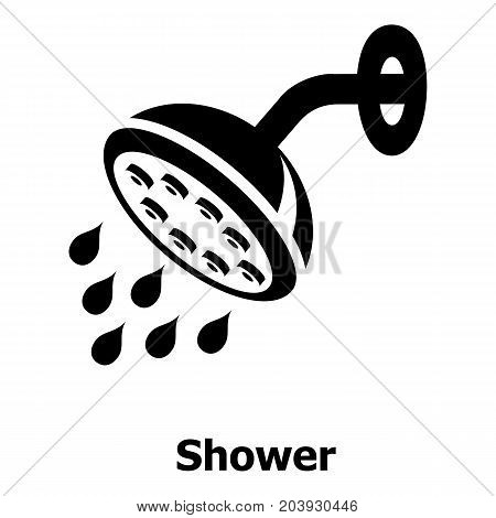 Shower icon. Simple illustration of shower vector icon for web