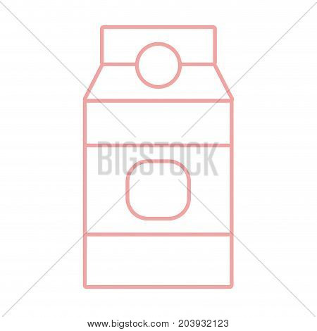 silhouette delicious milk box product to nutrient vector illustration