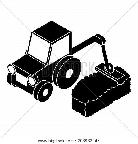 Road tractor icon. Simple illustration of road tractor vector icon for web design isolated on white background