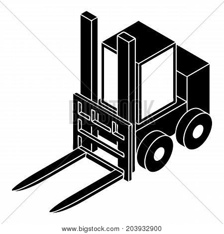 Forklift icon. Simple illustration of forklift vector icon for web design isolated on white background