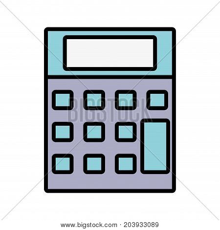 technology calculator tool to account economy vector illustration