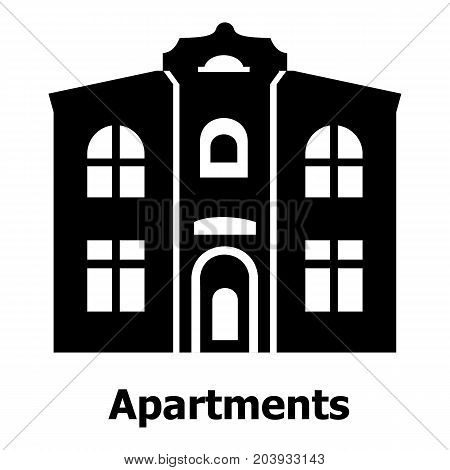 Apartments icon. Simple illustration of apartments vector icon for web