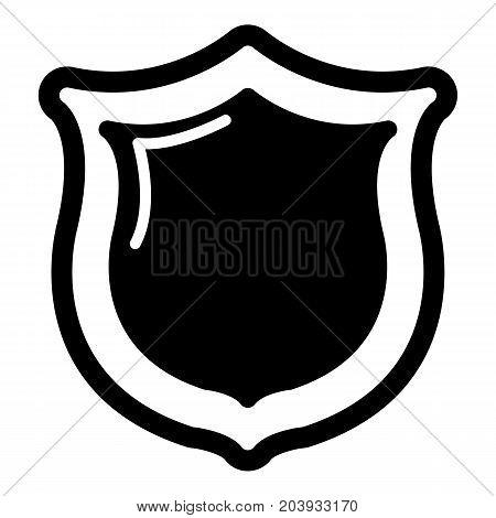 Museum shield icon. Simple illustration of shield vector icon for web design
