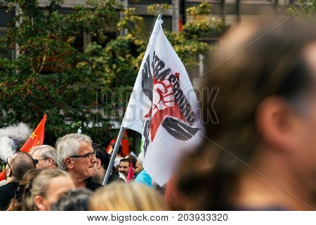 Strabourg En Colere Strasbourg Angry At Protest Flag