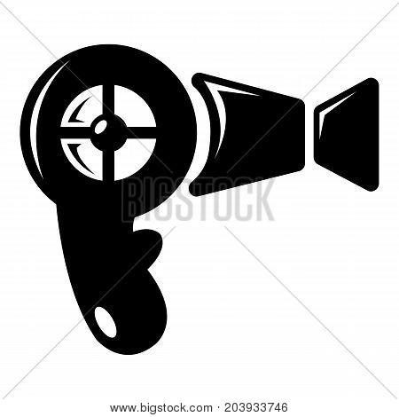 Hair dryer icon . Simple illustration of hair dryer vector icon for web design isolated on white background