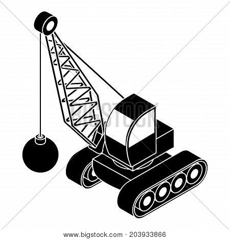 Demolish truck icon. Simple illustration of demolish truck vector icon for web design isolated on white background