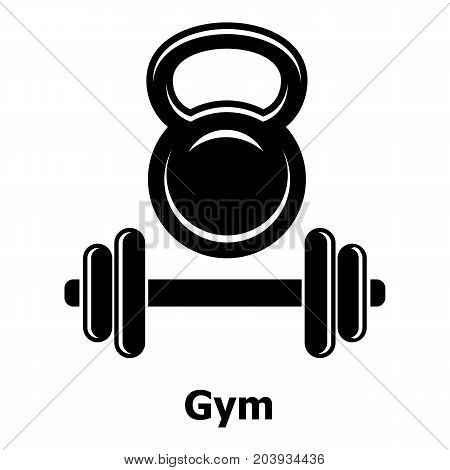 Gym metall icon. Simple illustration of gym metall vector icon for web