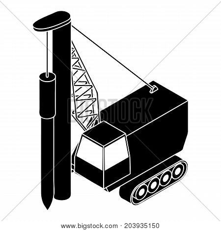 Drilling machine icon. Simple illustration of drilling machine vector icon for web design isolated on white background