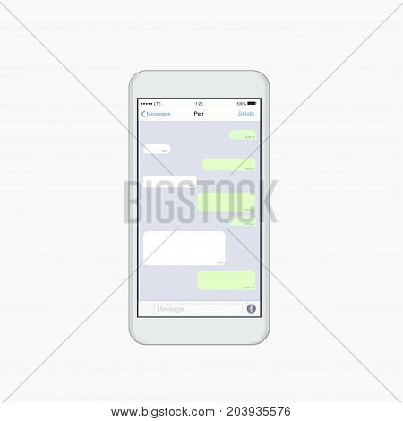 Vector modern chatting window. Social network concept design