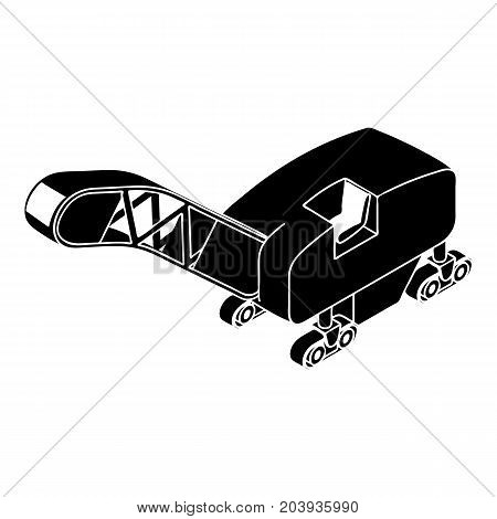 Mine band tractor icon. Simple illustration of mine band tractor vector icon for web design isolated on white background