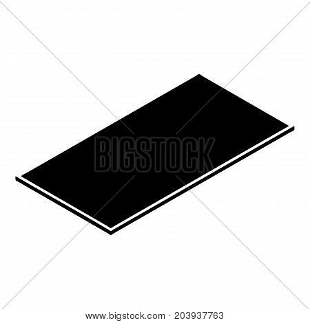 Metal panel icon. Simple illustration of metal panel vector icon for web design isolated on white background