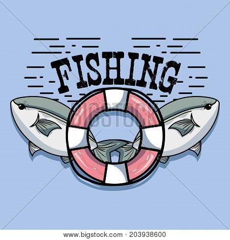 fish animal in the beauty sea design vector illustration